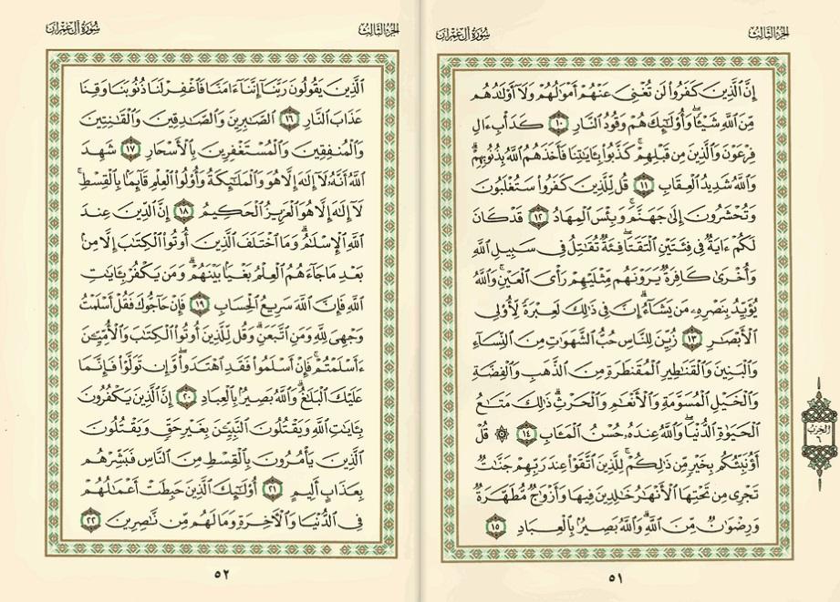 Surah Aal Imran (Ayat 14 – 92) – Maalik al Lubnaani
